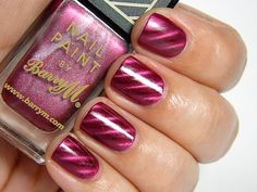 Barry M Magnetic Nail Paint Burgundy #beauty   #bornprettystore  #fashion  #nails  #polish  #holo