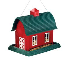 North States Industries: Barn Bird Feeder Large Red