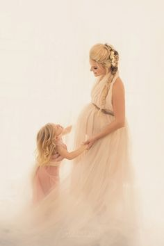 Mother and Daughter Fairytale maternity photography in los angeles