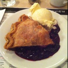 Blueberry pie a la mode - The Lakeview, Toronto Restaurant Recipes, Holi, Blueberry, Toronto, Berries, Pie, Dining, Breakfast, Photos