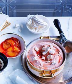 Roast peach and goat's milk gelato recipe - Gourmet Traveller