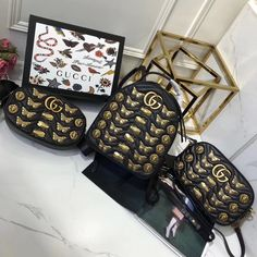 Gucci animal studs bags original leather version