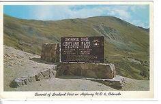 Summit of Loveland Pass on Highway U. S. 6, Colorado