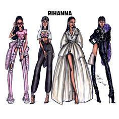All 4 looks from Rihanna during her Video Music Awards performances #Rihanna #RiRiVANGUARD #VMAs2016