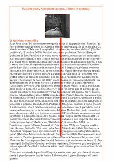 UH Magazine: Pasolini nudo e l'umanista in jeans ▌Massimo Sanne...