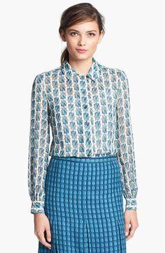 kerry silk blouse / tory burch