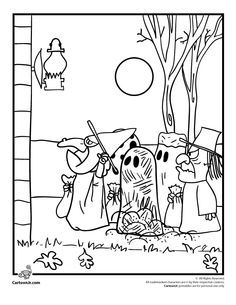 Its The Great Pumpkin Charlie Brown Coloring Pages Peanuts Gang Trick Or Treating Page Cartoon Jr