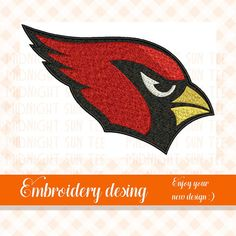 Your place to buy and sell all things handmade Arizona Cardinals Logo, Machine Embroidery Applique, Embroidery Designs, Logos, Unique Jewelry, Handmade Gifts, Etsy, Vintage, Kid Craft Gifts