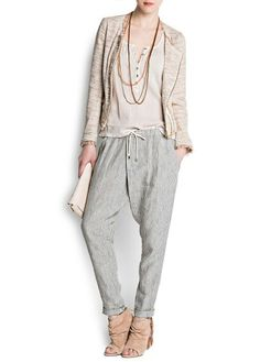 Very chic. Can be worn as formal or casual outfit