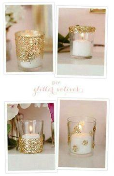 Glitter votives