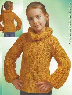 детские свитера для девочек спицами