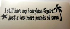 Hourglass-Figure-Funny-Vinyl-Decal-Wall-Glass-Block-Car-Window-Handmade