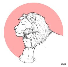 Aslan and Lucy by stkidd on DeviantArt