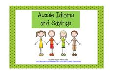 $ Each culture has its own idioms which can make learning the language challenging.  This is a matching game of Aussie expressions and their meanings which would be useful for anyone travelling to Australia, to students learning English as an Additional Language in Australia or for a fun activity on or around Australia Day.Use the matching cards to play Concentration, Snap or Fish...Aussie Idioms and Sayings by Ripper Resources is licensed under a Creative Commons…