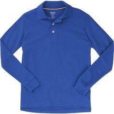 French Toast Toddler Boys' Long Sleeve Pique Polo Shirt (Blue Dark, Size 2 Toddler) - School Uniforms, Boy's Uniform Tops at Academy Sports