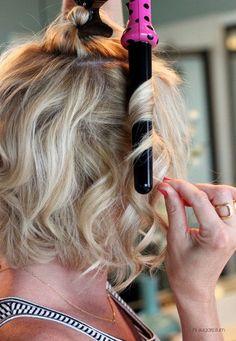 hair hair hacks How to Curl Your Hair & Make I Pretty Hairstyles, Easy Hairstyles, Wedding Hairstyles, Hairstyles Videos, Curling Wand Hairstyles, Bridal Hairstyle, Girl Hairstyles, Medium Hair Styles, Long Hair Styles