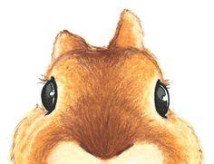 Cute Bunny Rabbit Nursery Art Print Large Size by ABunnyandBear, $35.00