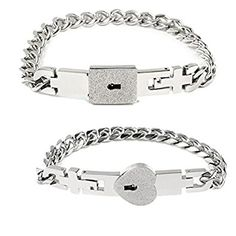 MLOVE Couples Jewelry Titanium Stainless Steel Anti-fatigue Bangle Bracelet Set Your Heart My Lovers Gift Review