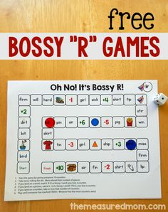 These 5 FREE bossy r games are great for teaching kids to read those tricky r-controlled vowel words.
