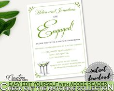 Engagement Invitation Bridal Shower Engagement Invitation Modern Martini Bridal Shower Engagement Invitation Bridal Shower Modern ARTAN #bridalshower #bride-to-be #bridetobe