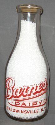 Baldwinsville NY Barnes Dairy (i have one of these bottles! Vintage Milk Bottles, Old Bottles, Milk Jars, Life Map, Glass Jars, Nostalgia, Dairy, Pandora, York