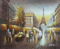 Paris antiguo pintura a oleo - Pesquisa Google