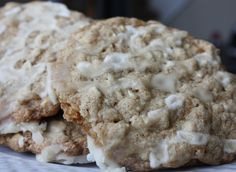 Iced Oatmeal Applesauce Cookies by Nutmeg Nanny