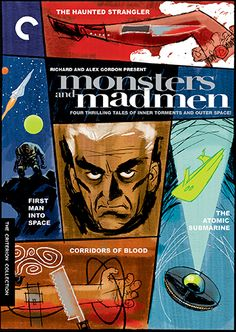 Monsters and Madmen (The Atomic Submarine, 1959; First Man into Space, 1959; The Haunted Strangler, 1958; Corridors of Blood, 1959) - No. 364 [Box Set; covers by Darwyn Cooke]