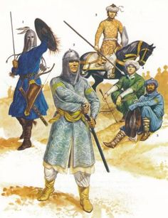 Seljuk warriors, also known as Saracens, 13th century.