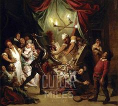 Story Of Don Quixote Don Quixote Attacking The Puppets by Charles Antoine Coypel Iv Art Reproduction