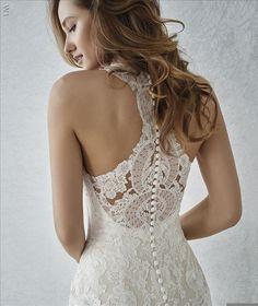 3e20386538d4 Familia bridal gown by Pronovias, available at Martellen's Dress and Bridal.  #marriedbymartellens #martellensbridal #martellens
