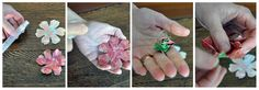 den kreative pose blog: DIY papir blomst fordel kit tutorial (min mini workshop resumé)