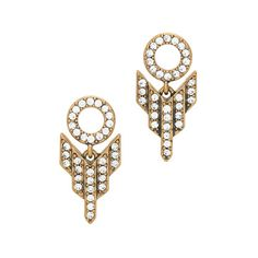 J.Crew PAVÉ ARROW EARRINGS #jewelry #gold