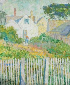 <b>PAULINE LENNARDS PALMER</b> <br /> American (1867-1938) <br /> <b>Provincetown, c. 1920</b> <br /> oil on board, signed lower left. <br /> 23 x 19 <br /> <br /> Provenance: David Dufour, New York; Acquired from the above in 1994; Property of an American Collection.