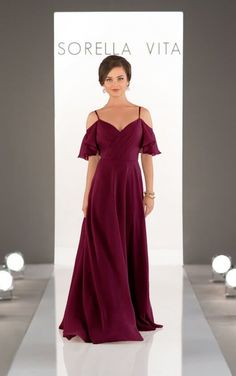 Sorella Vita chiffon bridesmaid gown