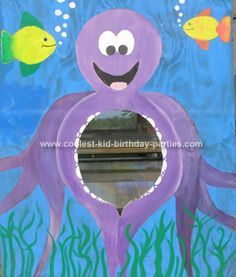 Under the sea party game... Make little fish shaped or other sea creature bean bags for the toss.