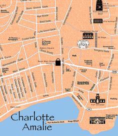 st thomas charlotte amalie map st thomas pinterest cruises caribbean and st thomas usvi