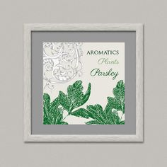Aromatics Plants PARSLEY Wall Decor Printable by OopsyIdeas