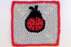 lady bug square - free patten download on Ravelry