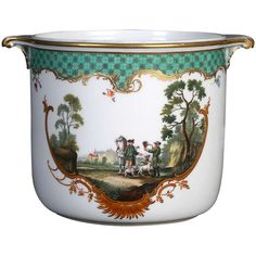 A Large Meissen Cachepot from the Hunting Service of Catherine the Great Donated to the Prince of Orlow at 1stdibs