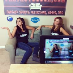 On the set of The Couch! Filming!