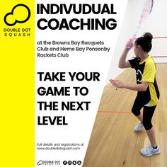 Want to take your game to the next level? Individual Coaching provides sessions focused on your specific skills set with sessions designed around your individual development, and will help you to improve your game at a faster rate. - Check out our Individual Coaching packages to find the best one for you at: www.doubledotsquash.com/coaching Squash Club, Play Squash, Double Dot, Goal Planning, Better One, Total Body, Are You The One, Improve Yourself, Competition