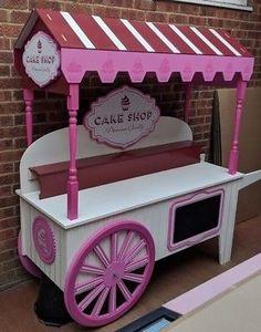 Cupcake and sweet cart for sale, candy carts fully collapsible, wedding, Sweet Cart For Sale, Sweet Carts, Candy Bar Wedding, Wedding Sweets, Ice Cream Car, Food Cart Design, Craft Booth Displays, Candy Cart, Flower Cart