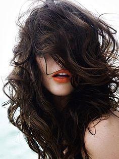 orange lips + beach hair don't care
