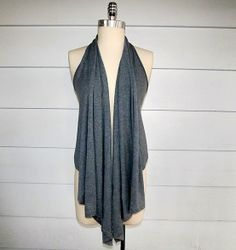 Five Minute Draped Vest from a t-shirt (no sew) - Easiest refashion ever!