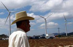 Un señor en Choluteca aprecia los campos eólicos. Honduras es líder en inversión de energía renovable  Hace casi una década, el país tenía una capacidad instalada de 6% en energía limpia.                http://www.laprensa.hn/economia/914329-410/honduras-es-l%C3%ADder-en-inversi%C3%B3n-de-energ%C3%ADa-renovable