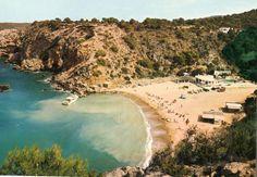 Foto antigua de la Cala Molí, en San Antonio, Ibiza en 1972