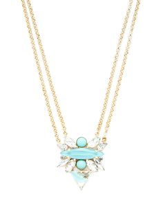 Turquoise Cluster Pendant Necklace by Noir Jewelry at Gilt