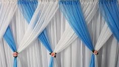 Easy paper flowers birthday decoration at home Backdrop Design, Diy Backdrop, Backdrop Decorations, Wedding Reception Backdrop, Wedding Stage Decorations, Curtain Designs, Colorful Curtains, Backdrops For Parties, Event Decor