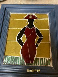 Black Women, Mosaic, Baseball Cards, Red, Painting, Mosaics, Painting Art, Paintings, Painted Canvas